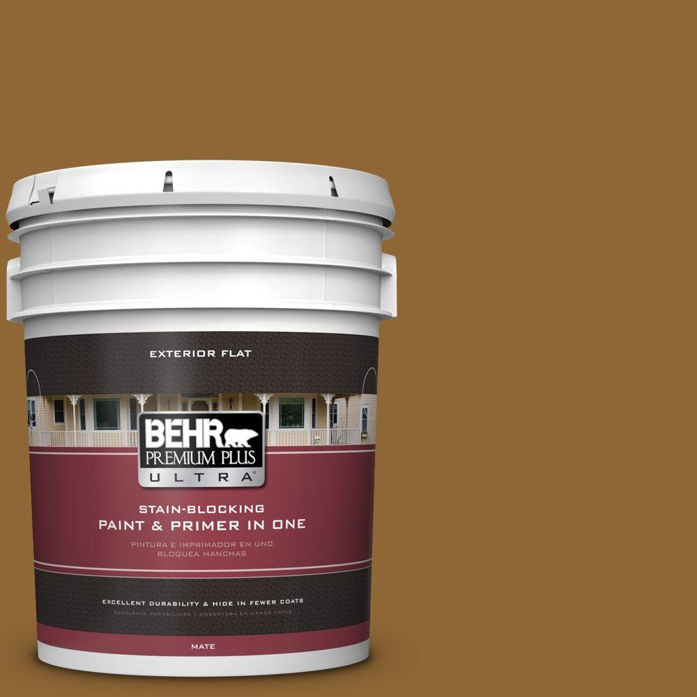 5-gal. #300D-7 Spanish Leather Flat Exterior Paint