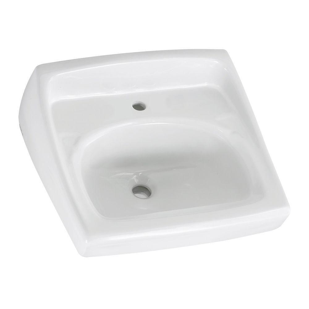 American Standard Lucerne Wall Hung Bathroom Sink In White