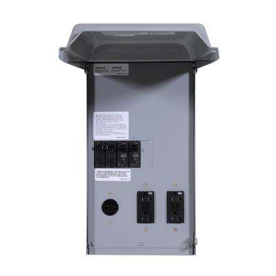 Site-Power 100 Amp 4-Space 4-Circuit Temporary GFCI Power Outlet