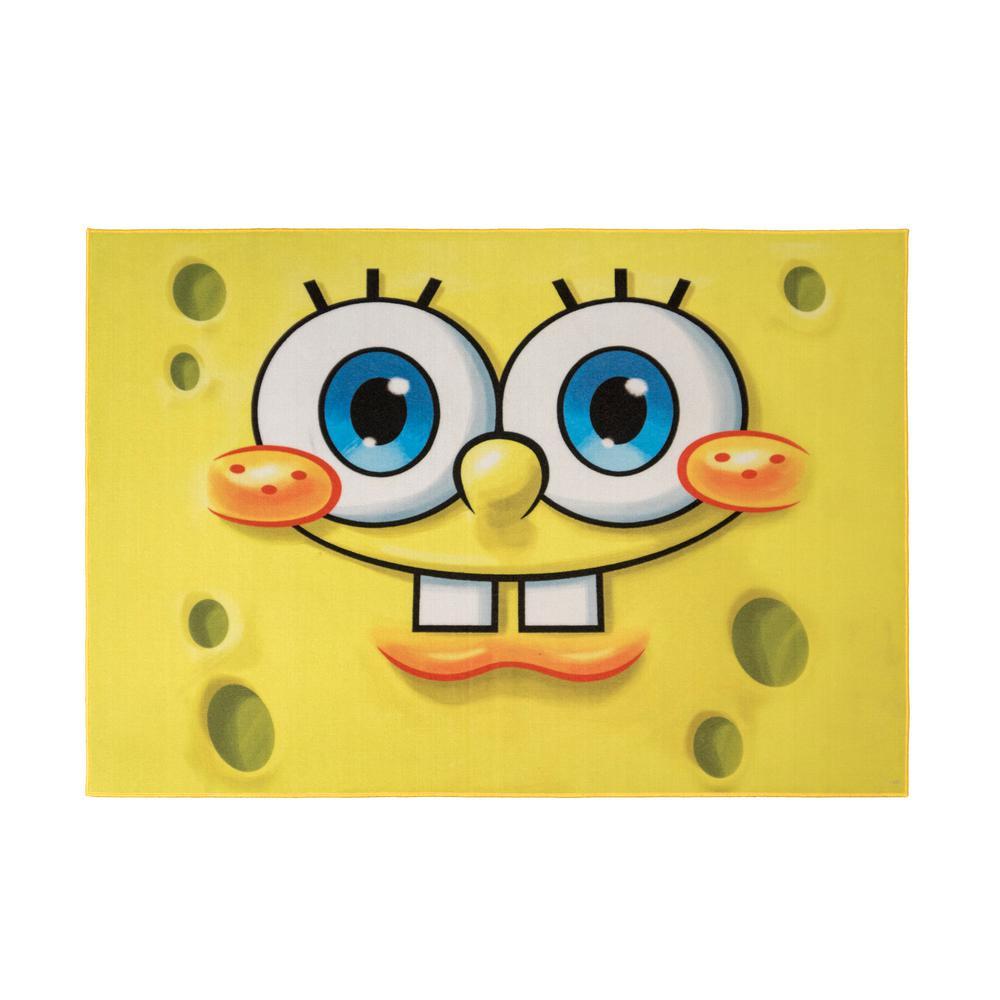 Spongebob Square Pants  4 ft. 6 in. x  6 ft. 6 in.  Indoor Juvenile  Area Rug