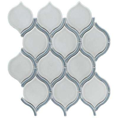 Divine Athena Glossy 10.47 in. x 11.73 in. x 8mm Ceramic Mesh-Mounted Mosaic Tile