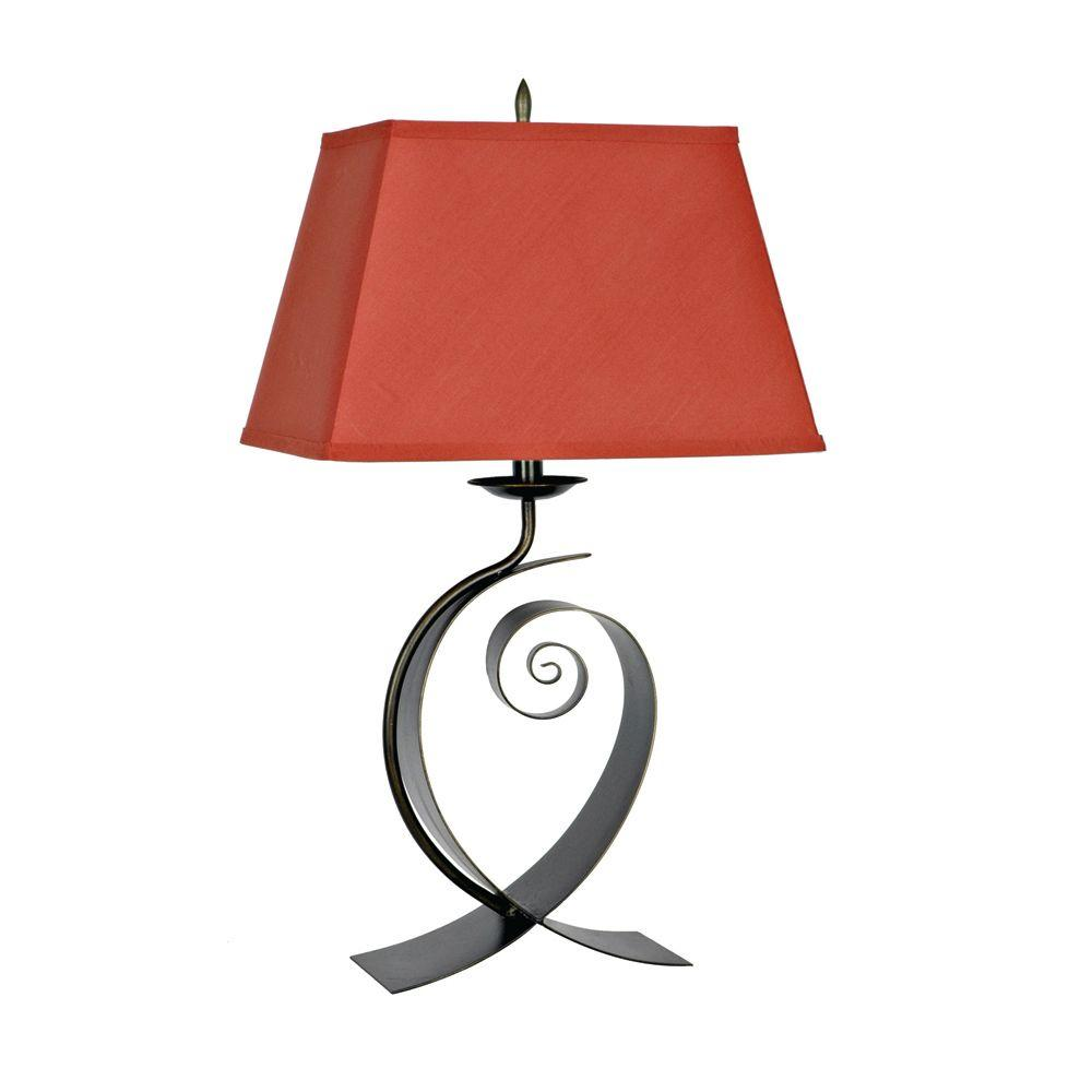 Absolute Decor 29 In Bronze Black Metal Curve Table Lamp Cvacr069