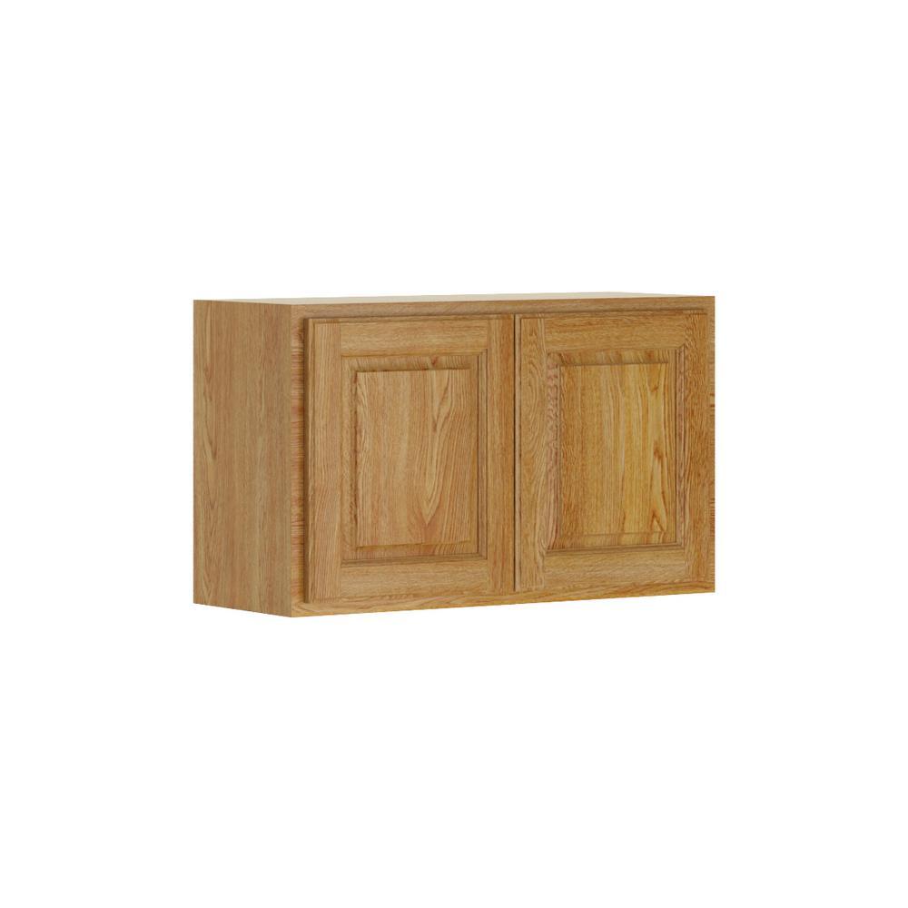 Medium Oak Kitchen: Hampton Bay Madison Assembled 30x18x12 In. Wall Bridge