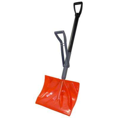 Bigfoot Series 18 in. Poly Combination Snow Shovel with Adjustable Power Lift Ergonomic Handle