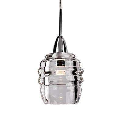 Kara 1-Light 40-Watt Equivalence Chrome Integrated LED Pendant