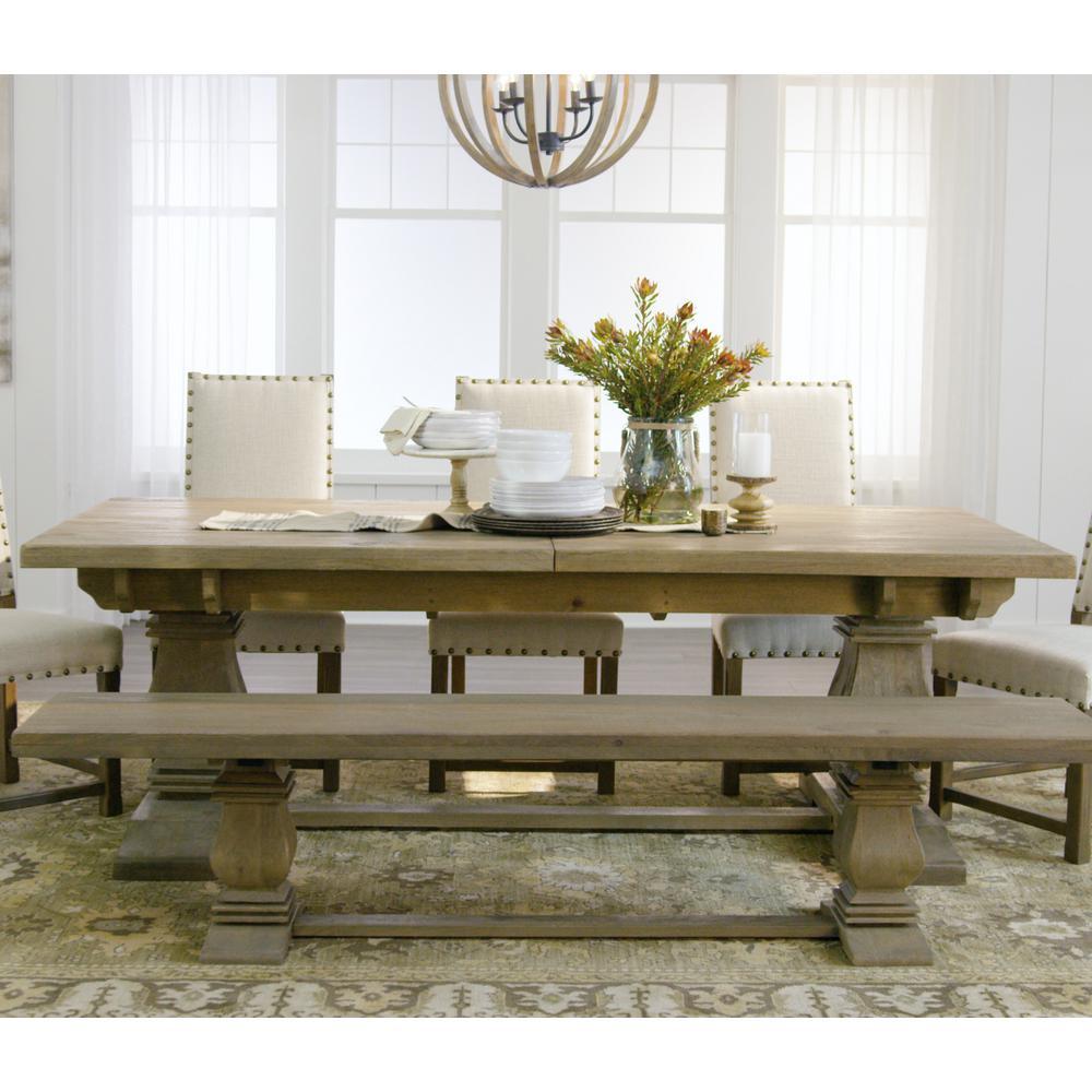 Beautiful +13. Home Decorators Collection Aldridge Antique Grey Extendable Dining  Table