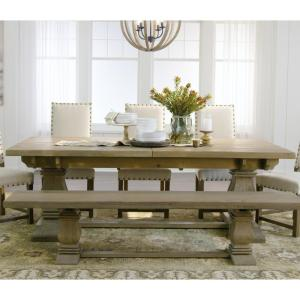 +7. Home Decorators Collection Aldridge Antique Grey Extendable Dining Table