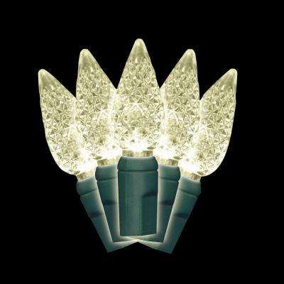 C7 100-Light Faceted LED Warm White Light Set