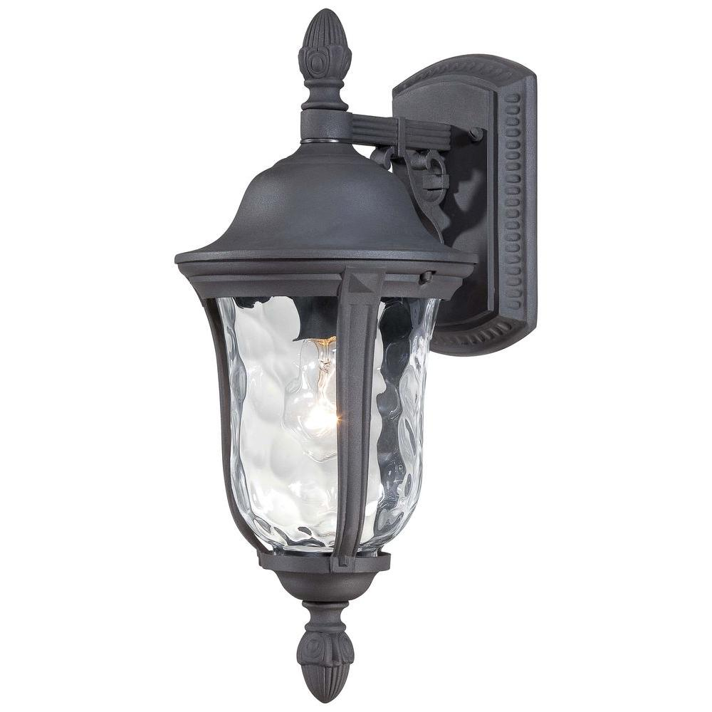 the great outdoors by Minka Lavery Ardmore 1-Light Black Outdoor Wall Mount Lantern