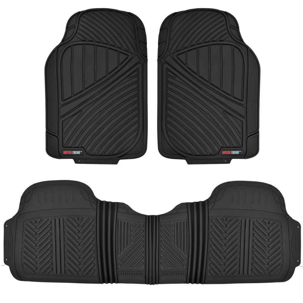Motor trend flextough mt 773 black heavy duty 3 piece all for Motor trend floor mats review