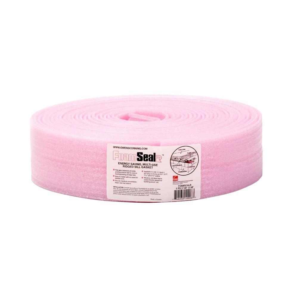 FoamSealR 3-1/2 in. x 50 ft. Multi-Use Ridged Sill Plate Gasket