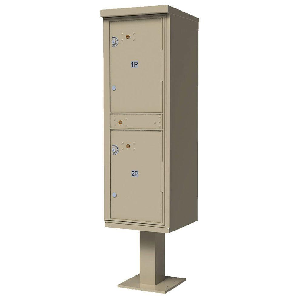 Valiant Outdoor Parcel Locker (OPL) with 2-Lockers in Sandstone