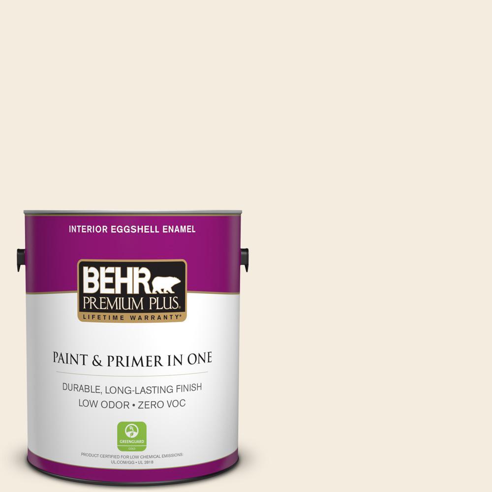 BEHR Premium Plus 1-gal. #PPL-11 Citrus Mist Zero VOC Eggshell Enamel Interior Paint