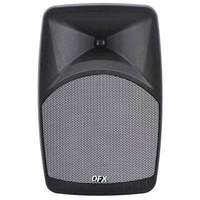 PBX-38 Elite Portable Bluetooth Speaker with 8 in. Woofer, FM Radio, Microphone Input and Remote Control, Gray