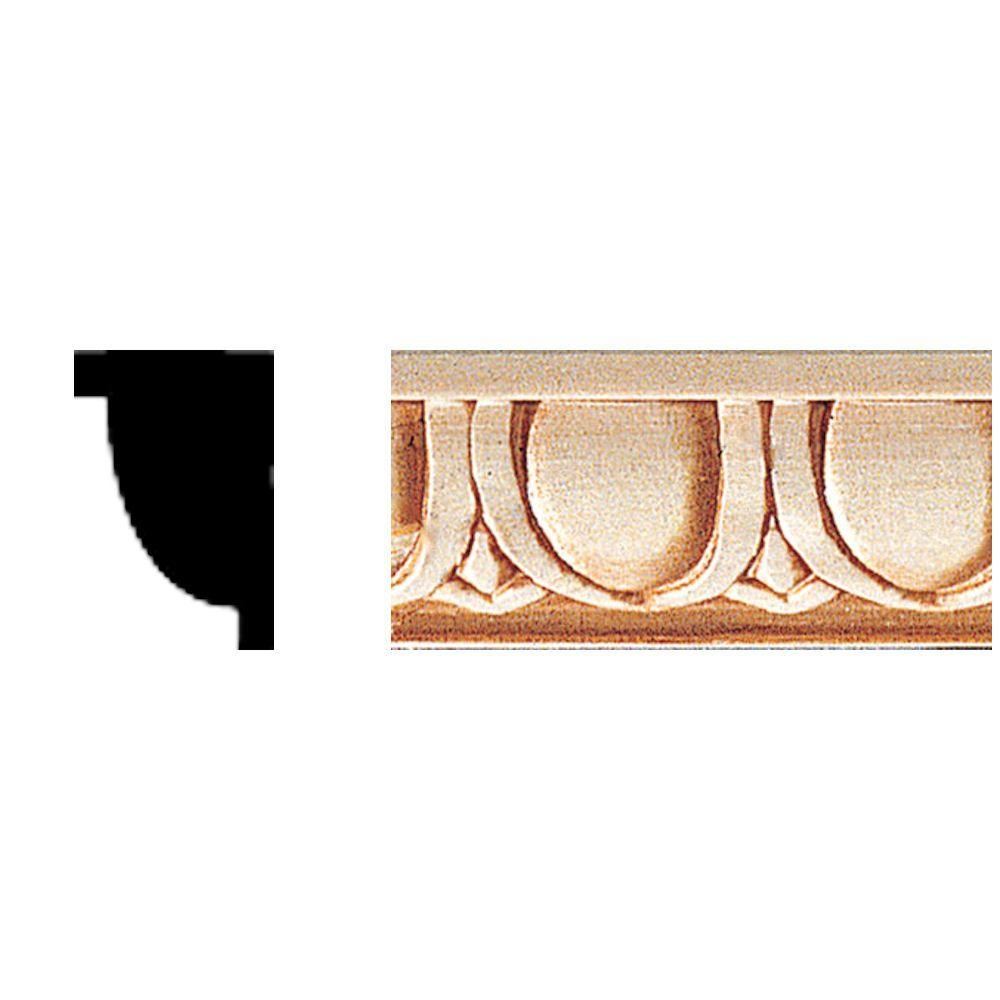 House of Fara 1/2 in. x 3/4 in. x 84 in. Hardwood Egg and Dart Moulding
