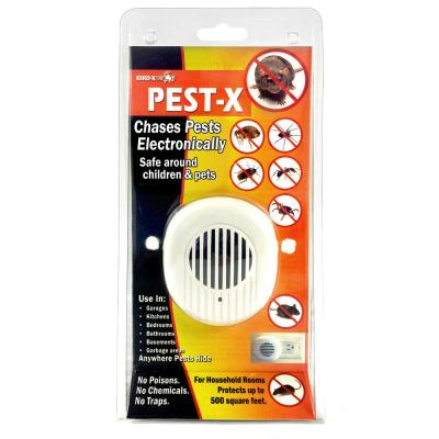 Pest-X Ultrasonic Rodent Repeller 500 sq. ft. Rodents Mice Rats Insects Ants Spiders Safe Pest Control