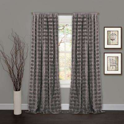 Emma Window Panel in Gray - 84 in. L x 50 in. W