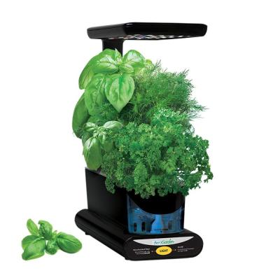 Black Plastic Sprout LED with Gourmet Herbs Seed Pod Kit