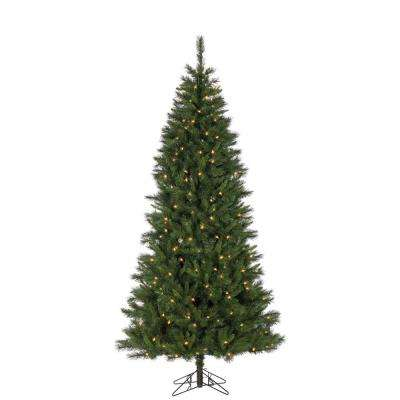 7.5 ft. Pre-Lit Sugar Pine Artificial Christmas Tree with 250 UL Color Changing LED Lights and 8-Function Remote