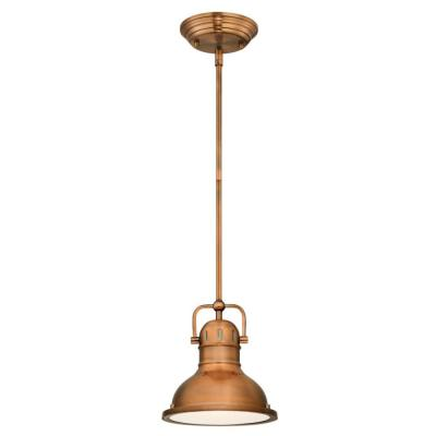 Boswell 1-Light Washed Copper Pendant with LED Bulb