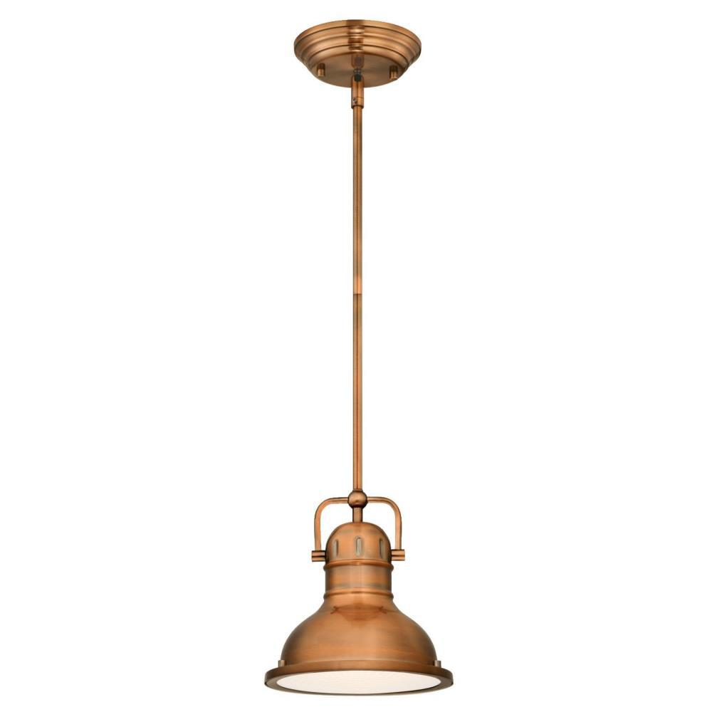 Boswell 1-Light Washed Copper LED Pendant  sc 1 st  The Home Depot & Westinghouse - Copper - Pendant Lights - Lighting - The Home Depot azcodes.com