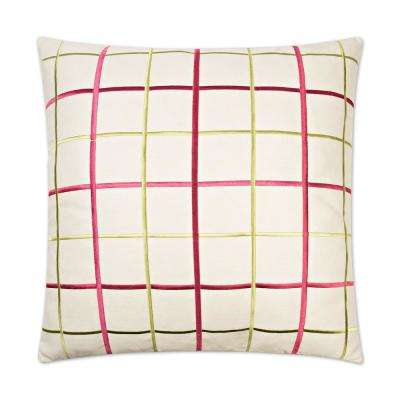 Gateway Raspberry Feather Down 24 in. x 24 in. Standard Decorative Throw Pillow