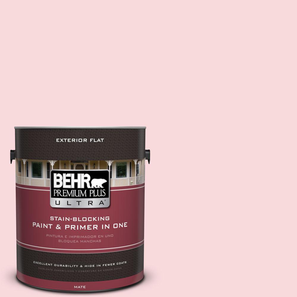 1-gal. #130C-1 Powdered Blush Flat Exterior Paint