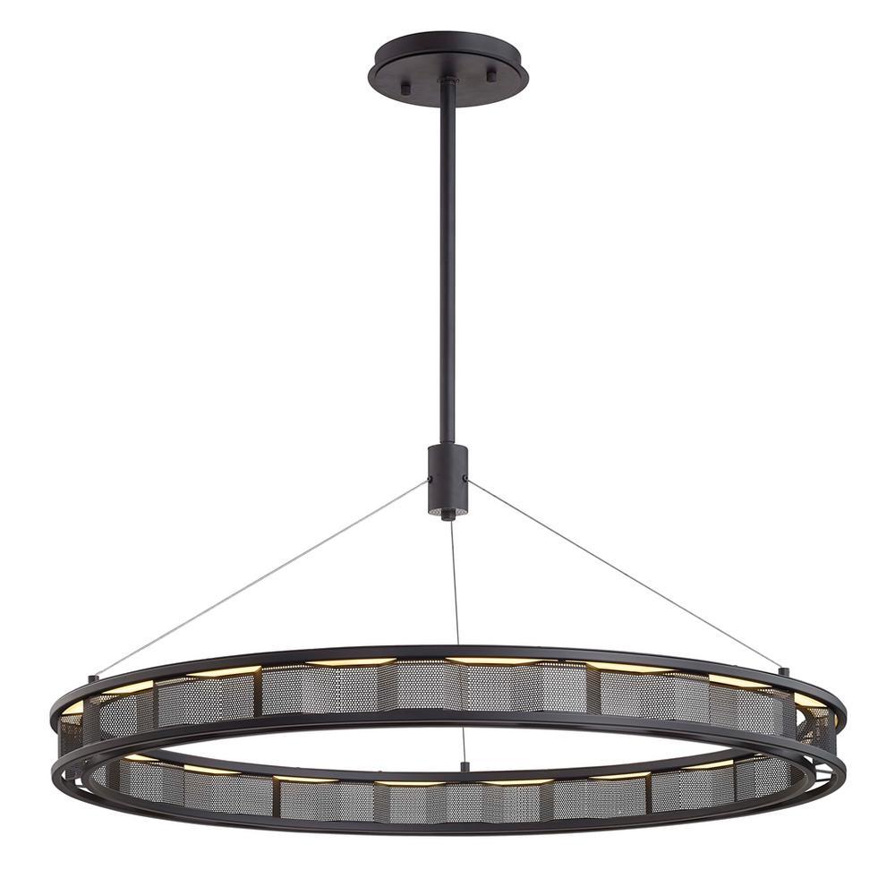 Fuze 43-Watt Modern Bronze Integrated LED Pendant