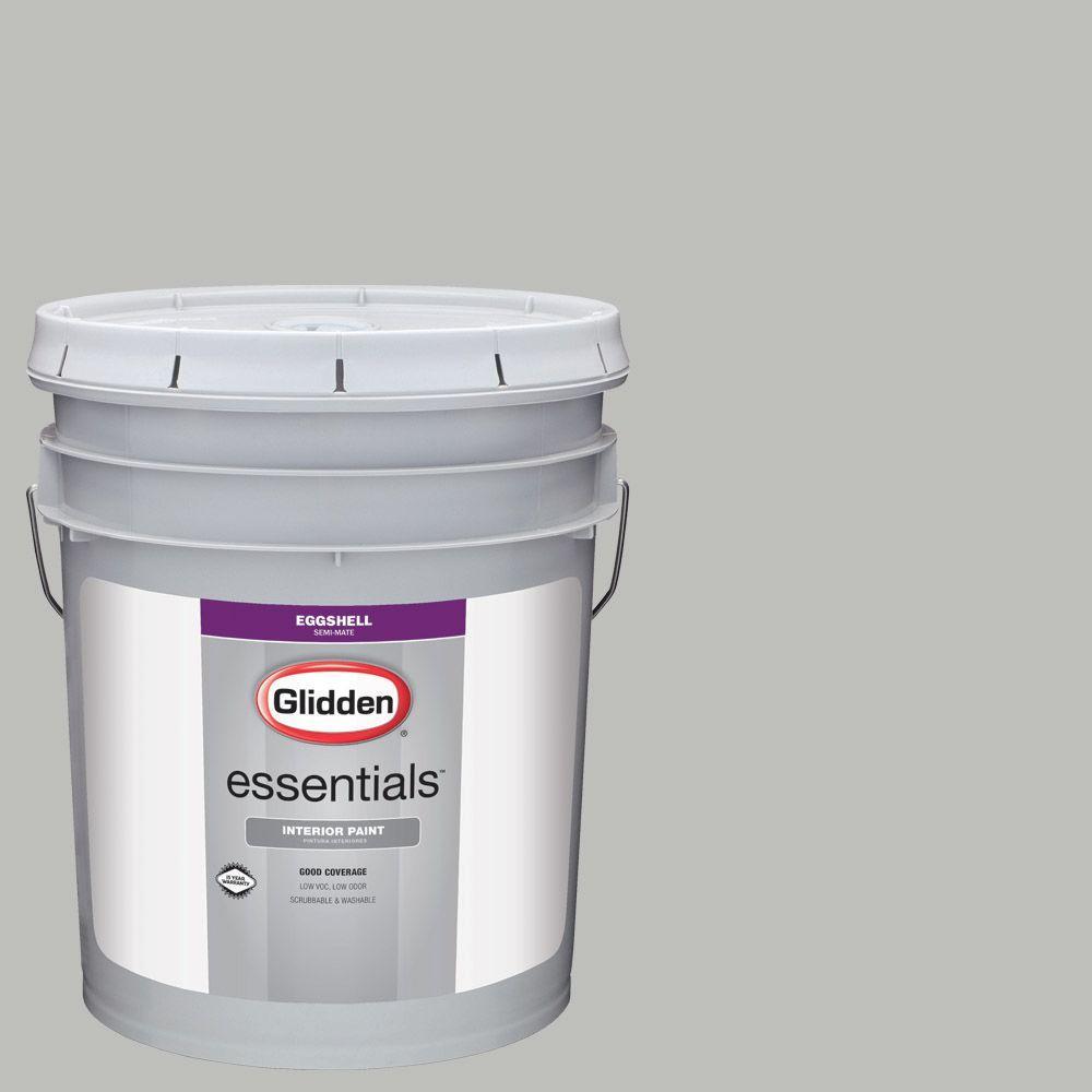 5 gal. #HDGCN62 Pebble Grey Eggshell Interior Paint
