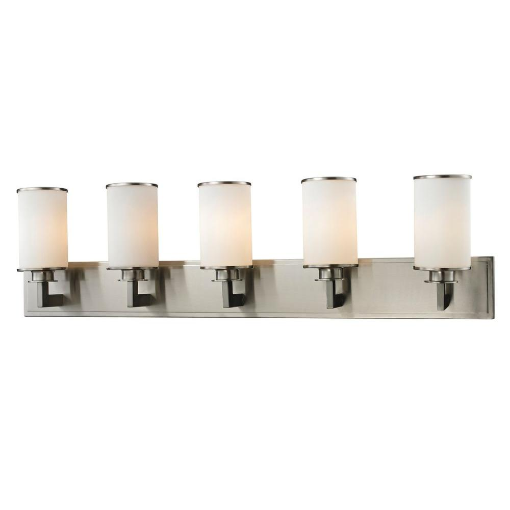 Lacy 5-Light Brushed Nickel Bath Vanity Light