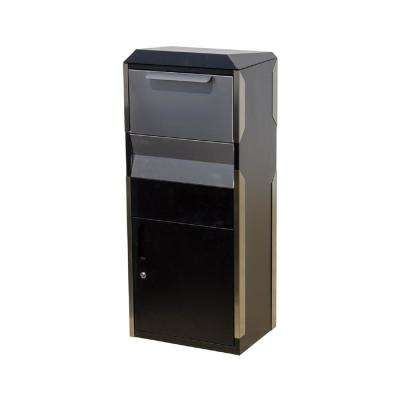 Winfield Black with Stainless Steel Free-Standing Locking Parcel Box