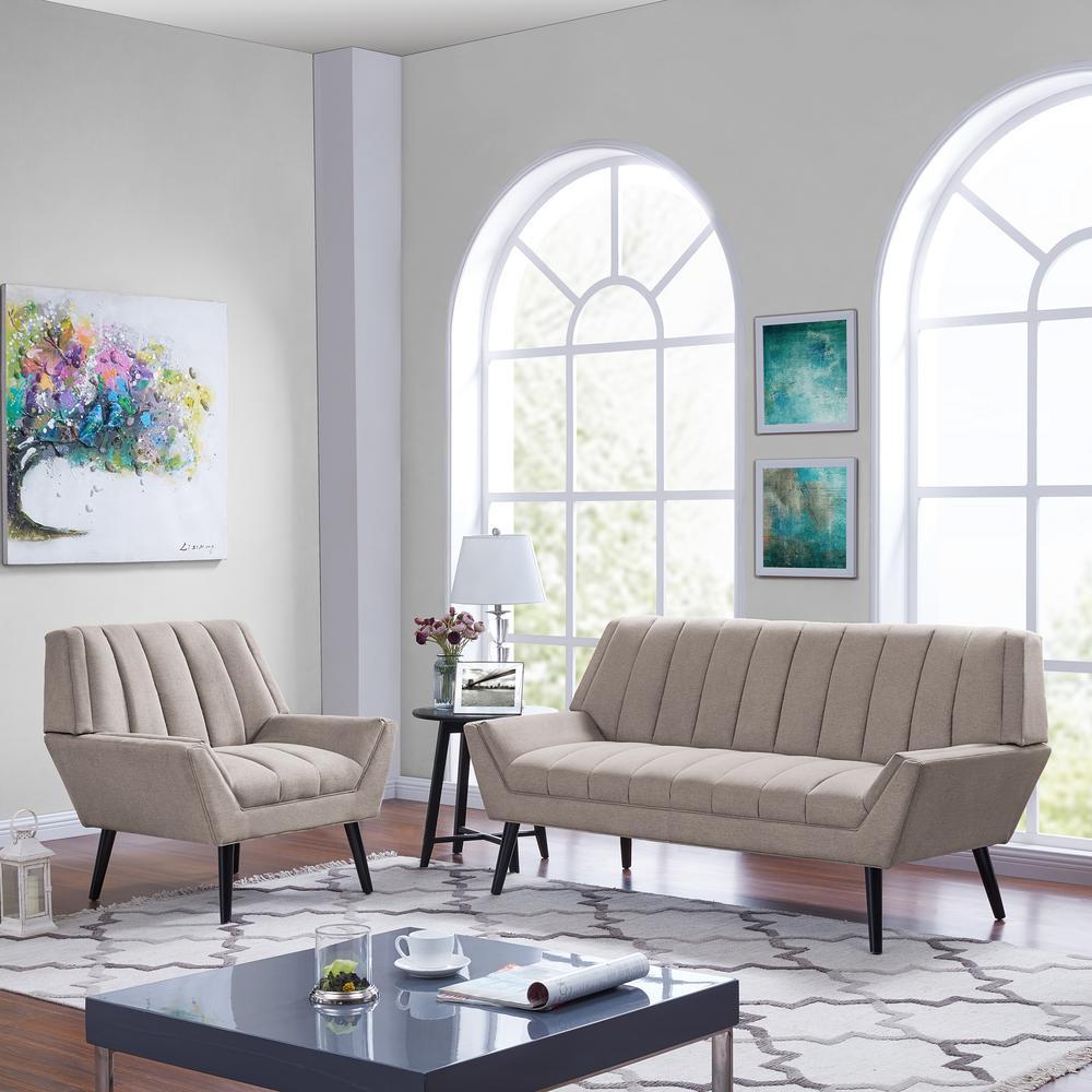 Handy Living Houston Mid Century Modern Sofa and Arm Chair ...