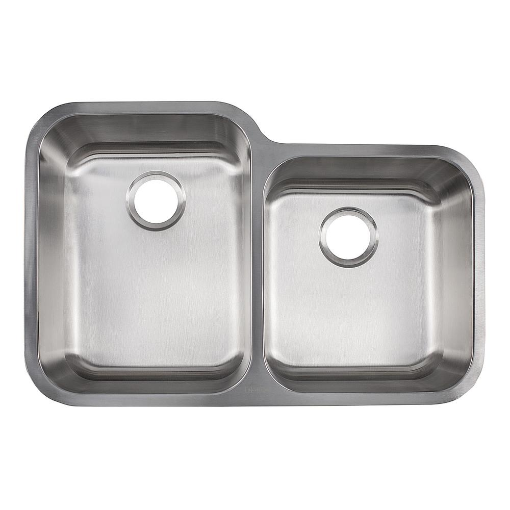 Kindred Collection Undermount Stainless Steel   Double Bowl Kitchen Sink In