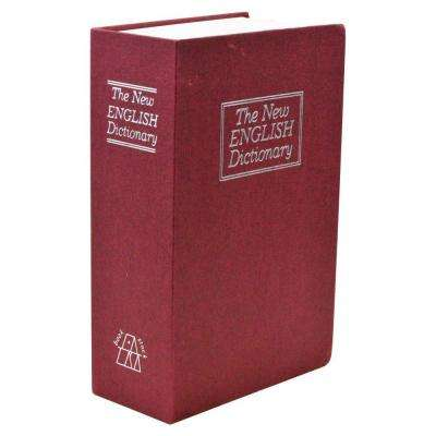 Small New English Dictionary Book Safe Storage Bin, Red