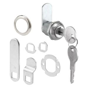 Prime-Line 5/8 inch Chrome Drawer and Cabinet Keyed Cam Lock by Prime-Line