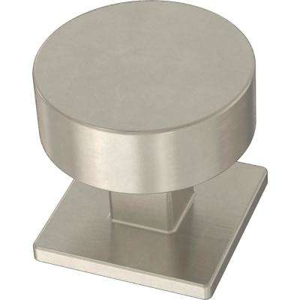 Modern Post 1-1/8 in. (28 mm) Satin Nickel Cabinet Knob