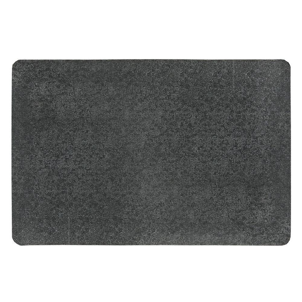 Pebble Trax Grande Black 24 in. x 36 in. Rubber Top/PVC Sponge Laminate 1 in. Thick Anti-Fatigue Mat