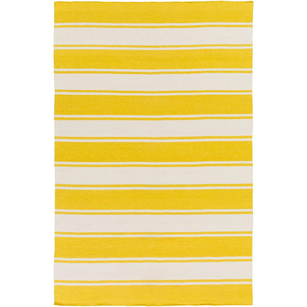 Bright Outdoor Area Rugs: Artistic Weavers Rockingham Bright Yellow 5 Ft. X 7 Ft. 6