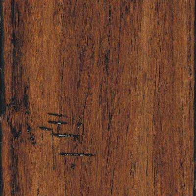 Hand Scraped Strand Woven Spice 3/8 in. x 5-1/8 in. x 36 in. Length Click Lock Bamboo Flooring (25.625 sq. ft. / case)