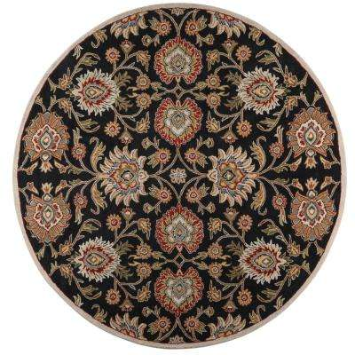 Echelon Black 10 ft. x 10 ft. Round Area Rug
