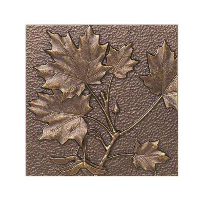 8 in. Maple Leaf Aluminum Wall Decor