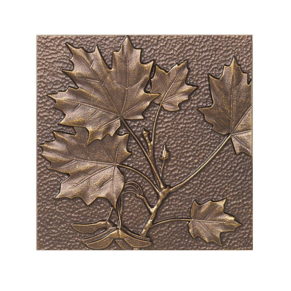 Whitehall Products 8 in. Maple Leaf Aluminum Wall Decor