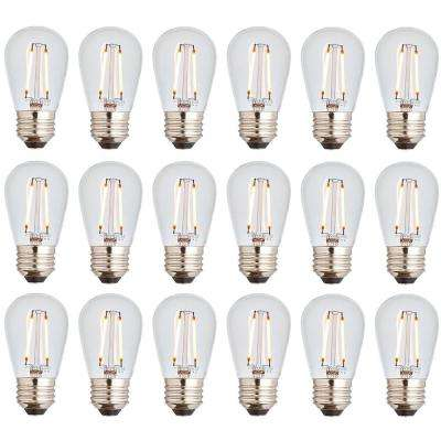11W Equivalent 2400K Warm White S14 LED Replacement String Light Bulbs Standard Base (18-Pack)