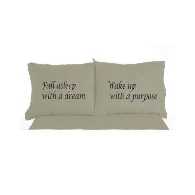 Fall Asleep with a Dream Novelty Print Pillowcase Pair