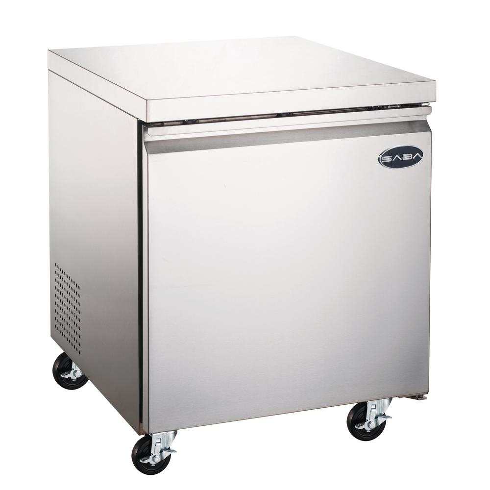 SABA 6.3 cu. ft. Commercial Under Counter Freezer in Stainless Steel