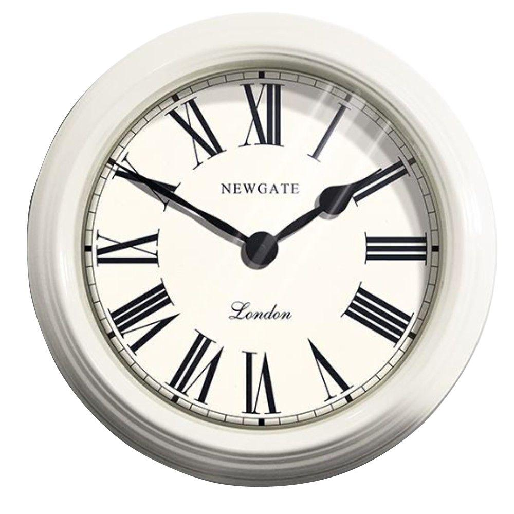 Home Decorators Collection 19.5 in. Edinburgh Linen White Wall Clock
