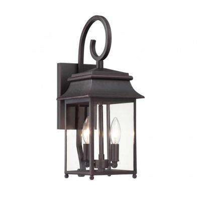 Nielsen 2-Light Slate Outdoor Wall Mount Lantern