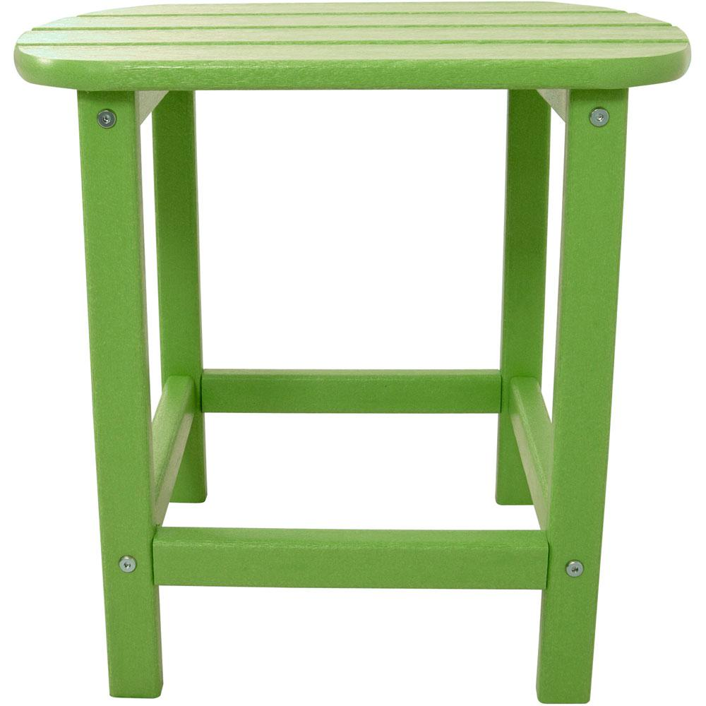 lime all weather patio side table