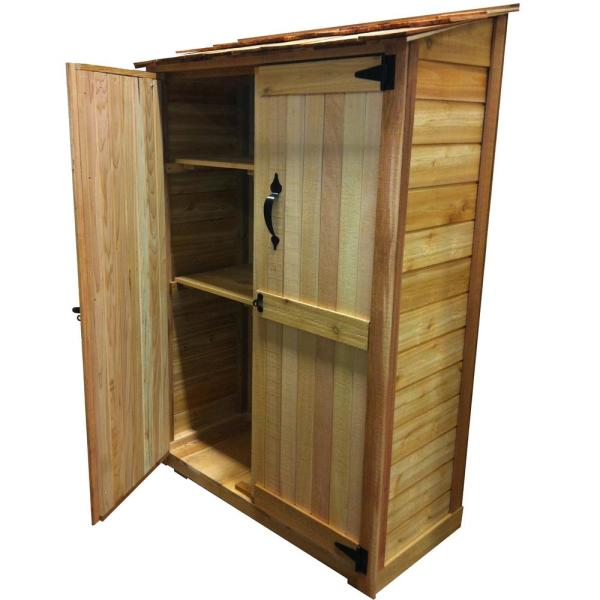 4 ft. x 2 ft. Cedar Garden Storage Shed
