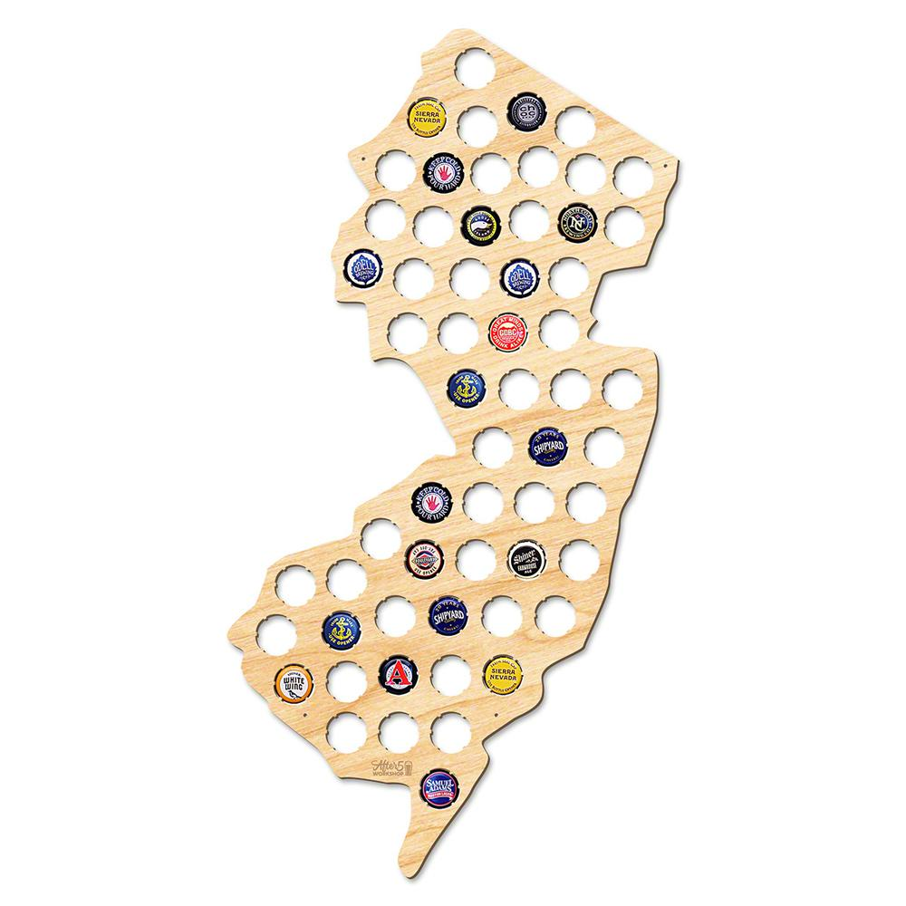 After 5 Workshop 24 In X 13 In Large New Jersey Beer Cap